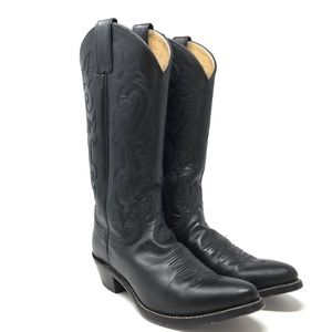Justin | Women's Black Leather Cowgirl Boot Sz 7.5